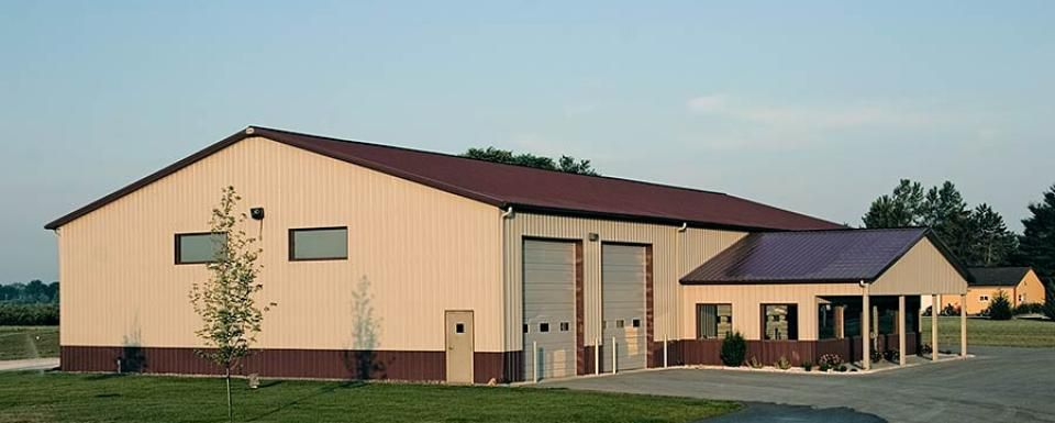 Commercial Building Profile Use Commercial Post Frame Building Size 60 X 120 X 16 Pole Barn Homes Post Frame Building Industrial Buildings