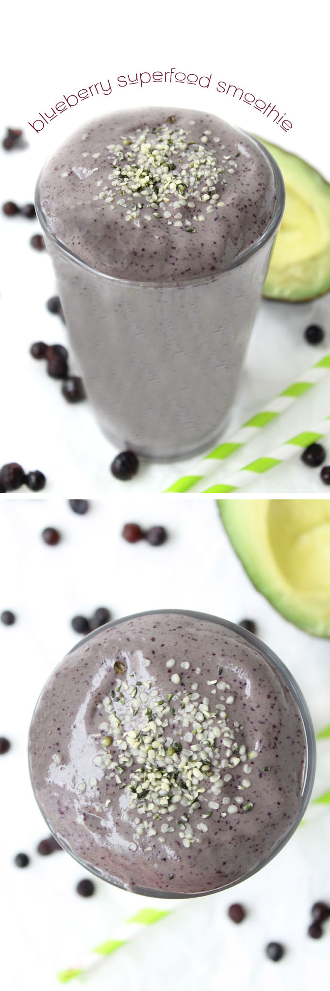 Blueberry Superfood Smoothie // thehealthymaven.com