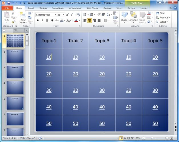 Jeopardy Powerpoint Game Designed By Teachers. | Powerpoint
