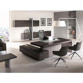 JERA 12 Designer Chefbüro mit Winkel-Schreibtisch und Wandboard ...