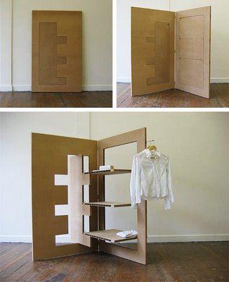 Biombo de cart n manualidades muebles reciclados - Biombo de carton ...