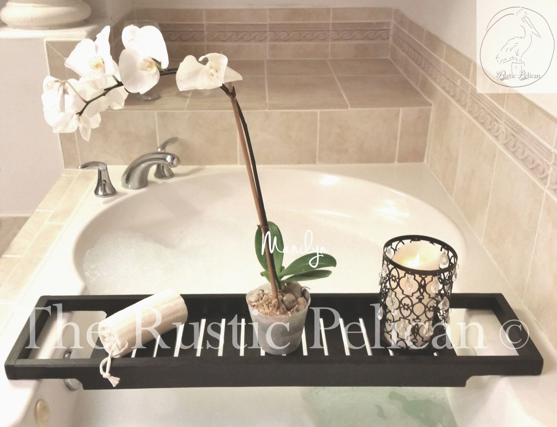 Bathtub Tray -Rustic Bathtub Caddy -Tub Tray - Wood Tub Shelf ...
