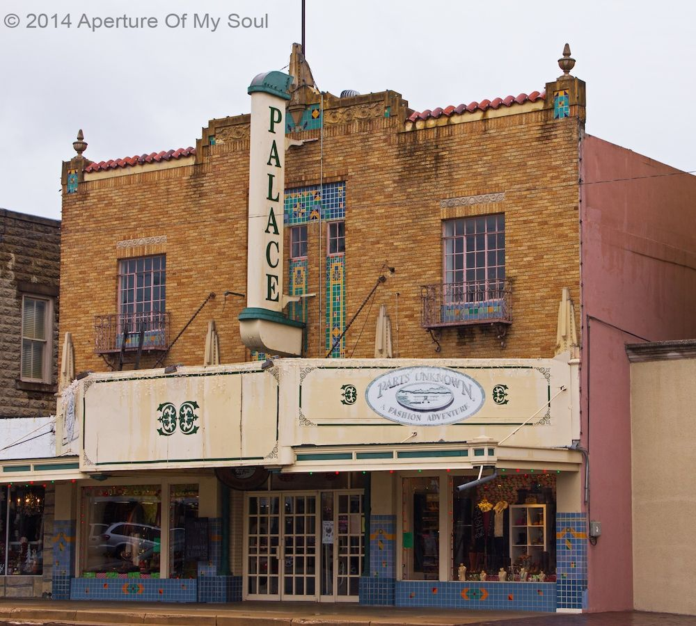 Palace Theater building Fredericksburg TX in Texas