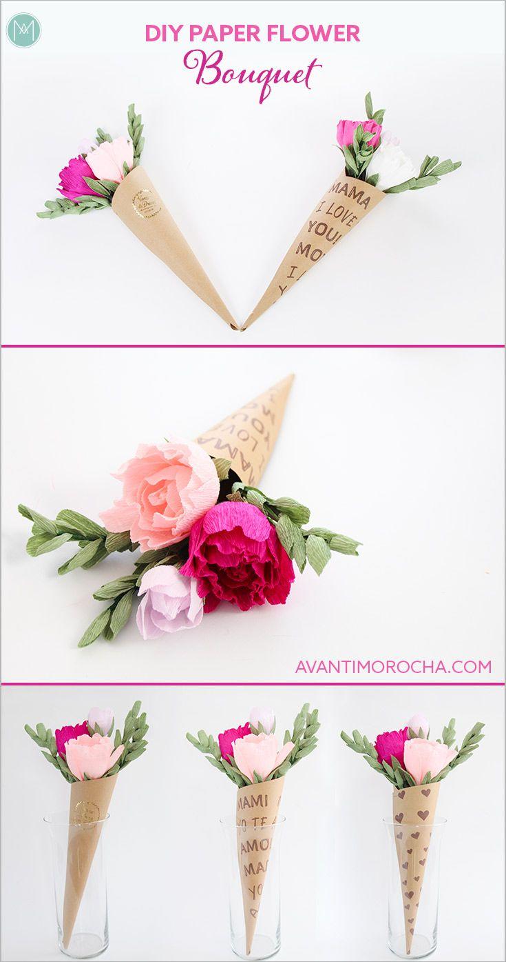 Diy paper flower bouquet pinterest diy paper flower bouquets diy paper flower bouquet flower cones ramo de flores wedding izmirmasajfo