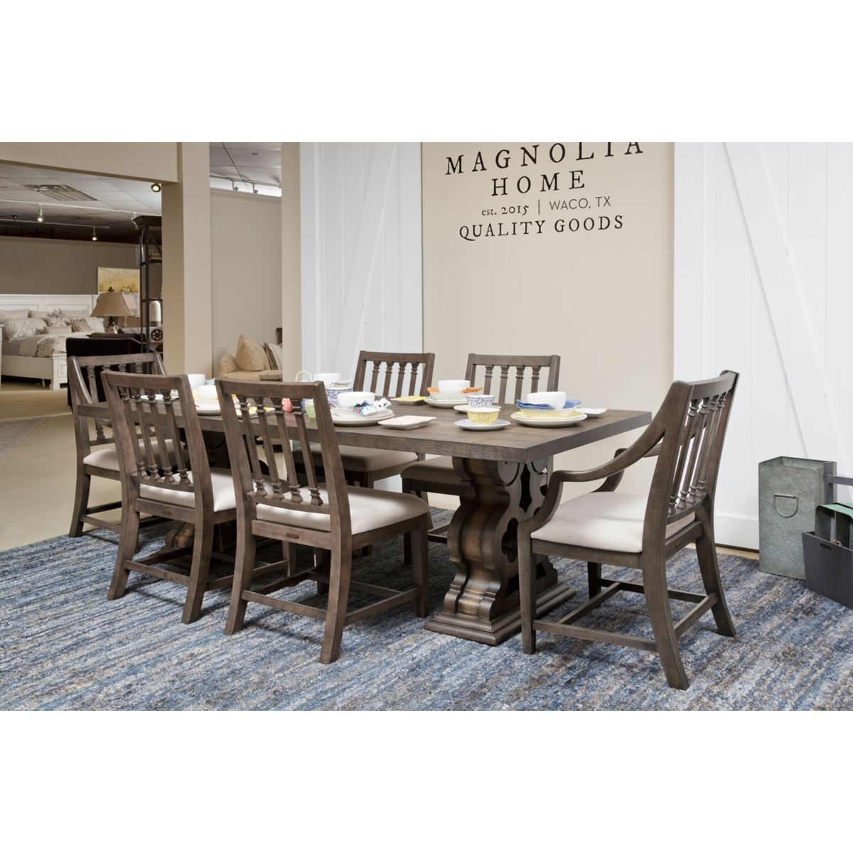 Another View From Our Showroom Of The Traditional Double Pedestal Dining  Room Table From Magnolia Homes