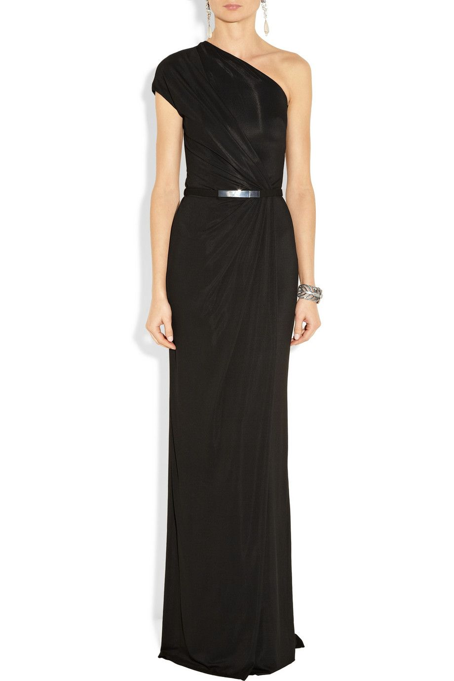 Kaufmanfranco draped crepejersey gown dresses pinterest