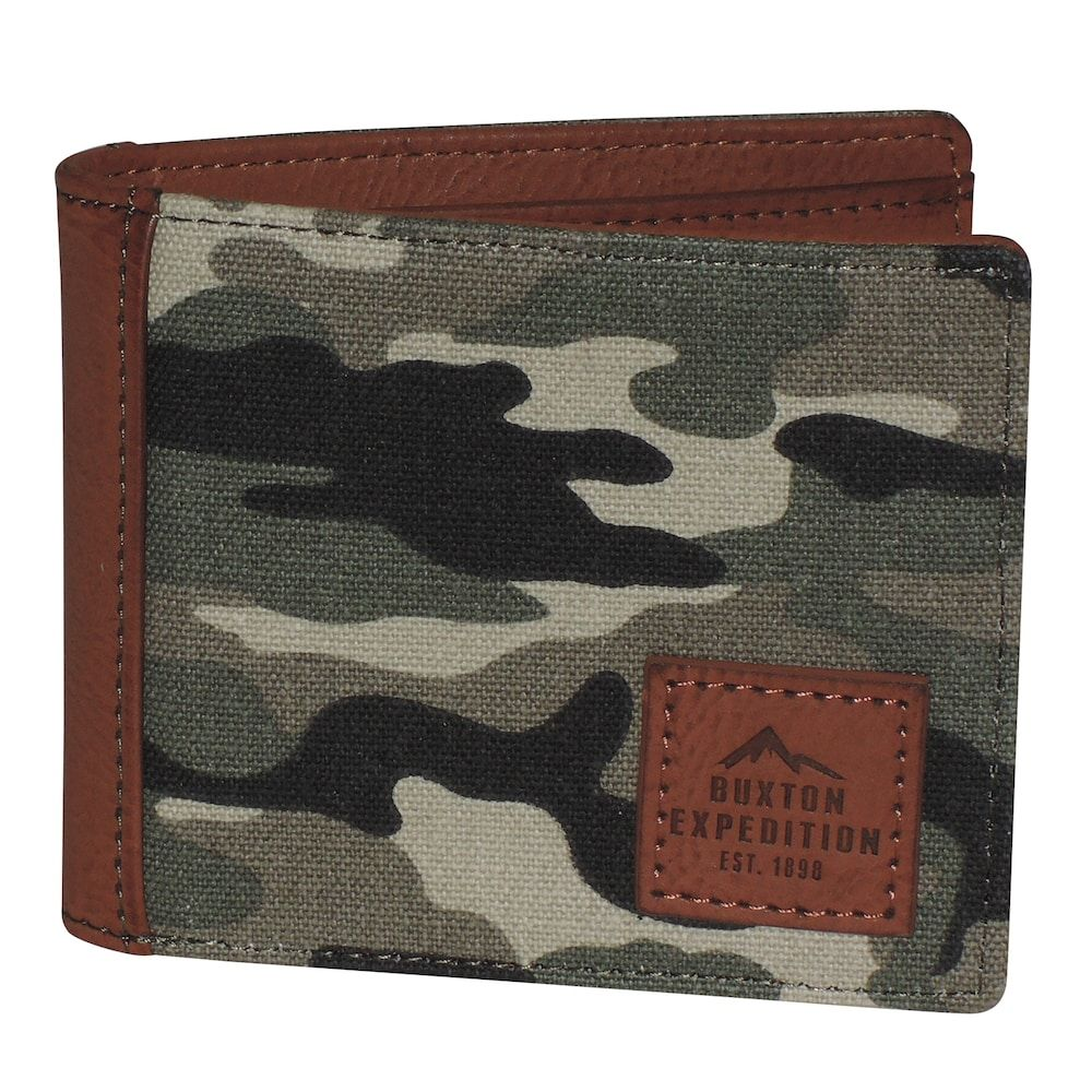 Buxton Expedition Rfid-Blocking Huntington Gear Slimfold Wallet, Men's, Green