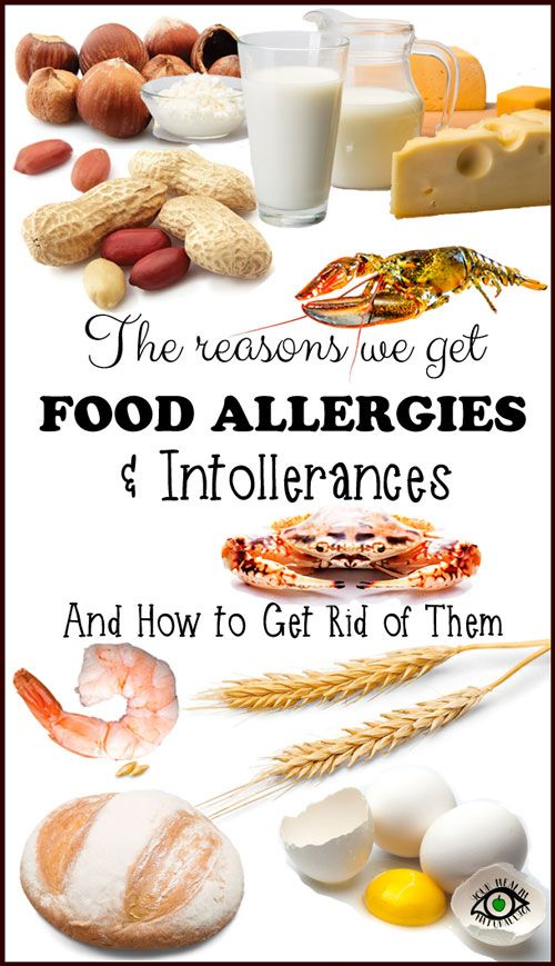 causes of food allergies and intolerances and how to get rid of the allergies