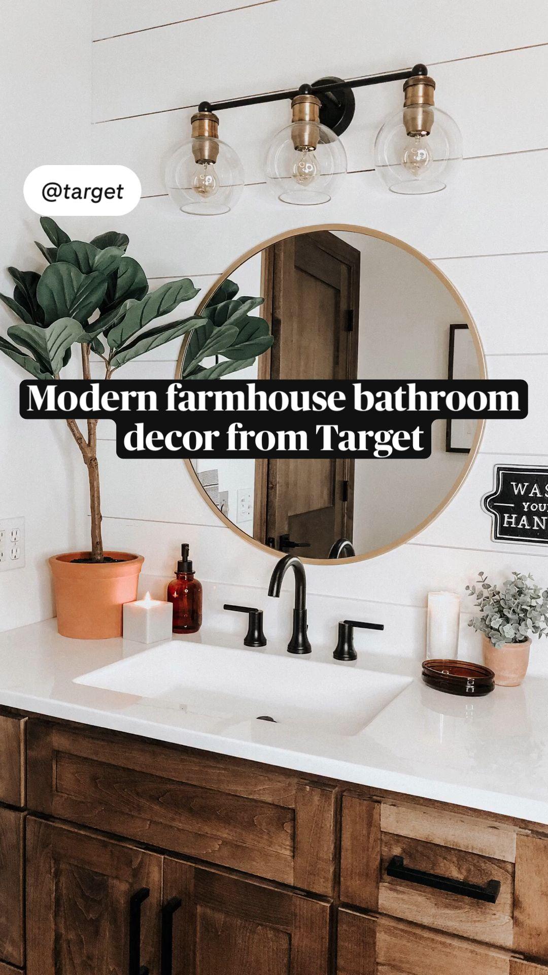 Modern Farmhouse Bathroom Decor From Target An Immersive Guide By Bailey Huffman Bathroom decor at target