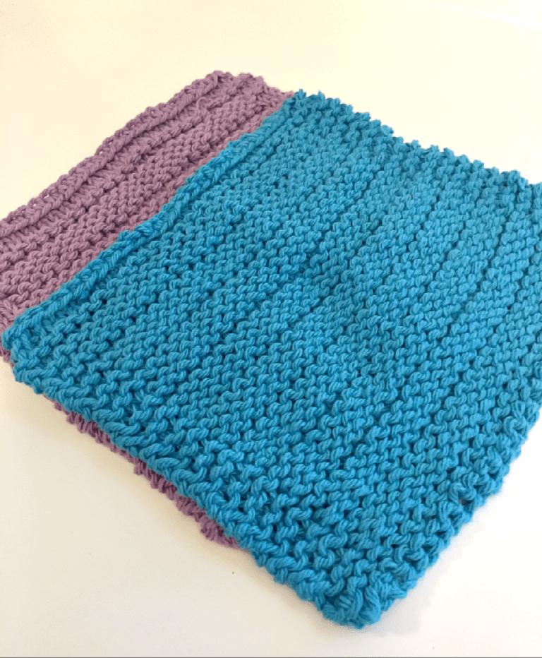 Dishcloth Knitting Pattern: Easy Stripes | Dishcloth ...