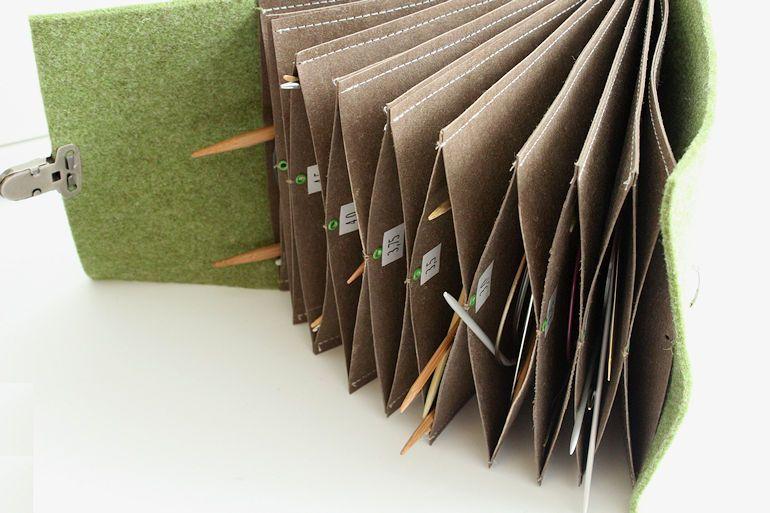 Fächertasche mit Stricknadeln … | Handarbeiten | Pinterest | Sewing ...