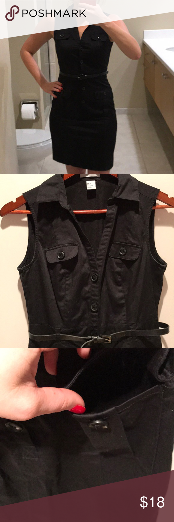 Black button up dress in my posh picks pinterest fashion