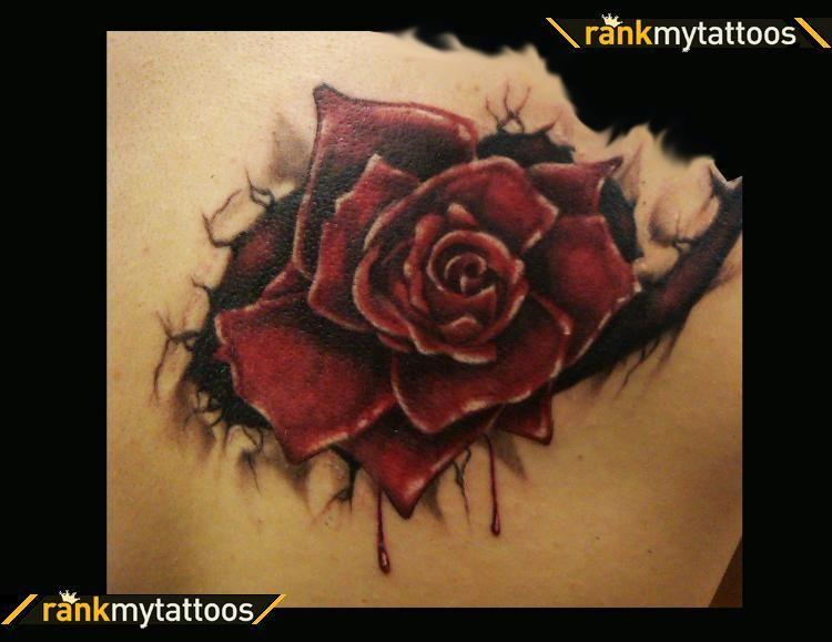 70 Amazing 3d Tattoo Designs Realistic Rose Tattoo Shoulder
