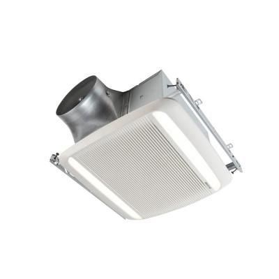 Broan Ultra Green Zb Series 110 Cfm Multi Speed Ceiling Bathroom Exhaust Fan With Led Light Energy Star White Bathroom Exhaust Fan Bathroom Fan Light Led