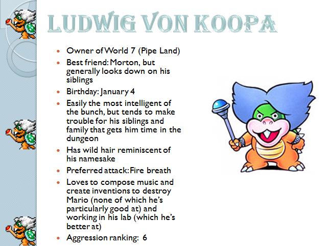 Profiles: Ludwigh von Koopa