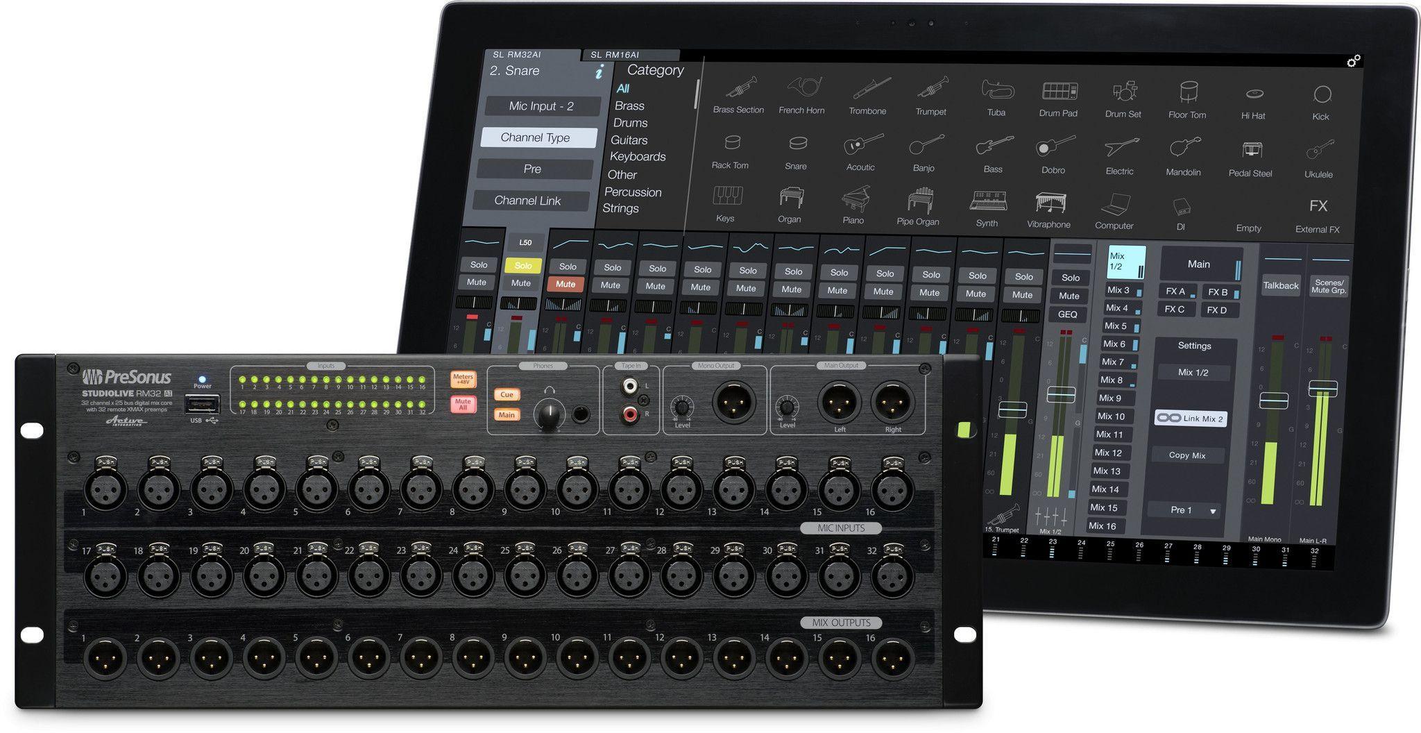 Presonus Studiolive Rm32ai 32 Channel Rack Mount Mixer With