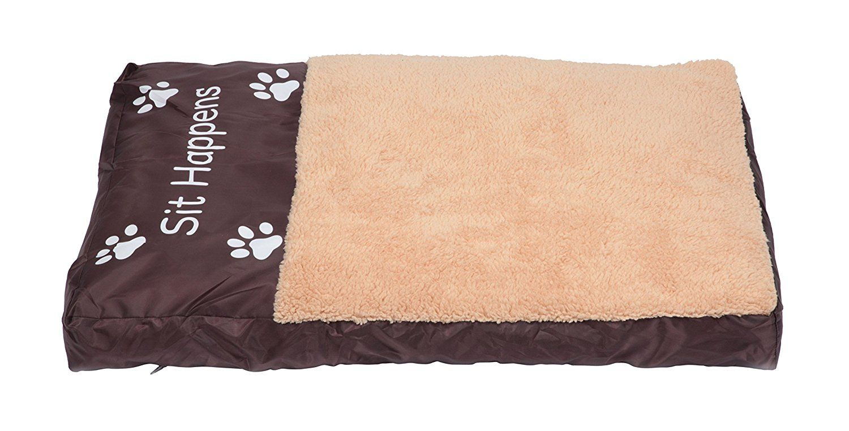 lucybelle pets lb pb 01 large faux sheepskin memory foam pet bed