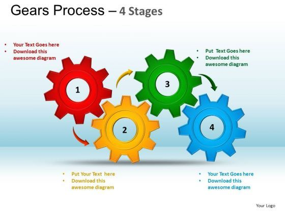 Powerpoint Layouts Marketing Gears Process Ppt Template  Ppt