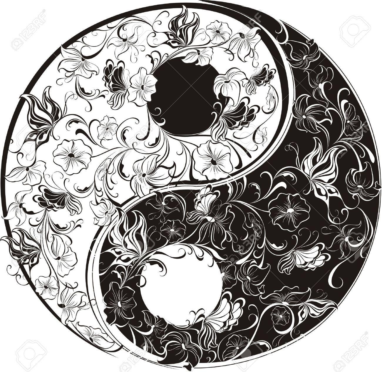Coloring pages yin yang - Yin And Yang Stock Photos Images 9 671 Royalty Free Yin And Yang