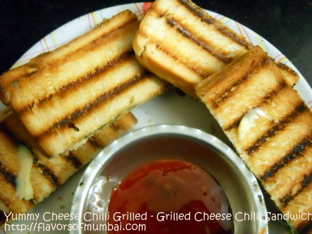 Yummy Cheese Chilli Grilled – Grilled Cheese Chilli Sandwich