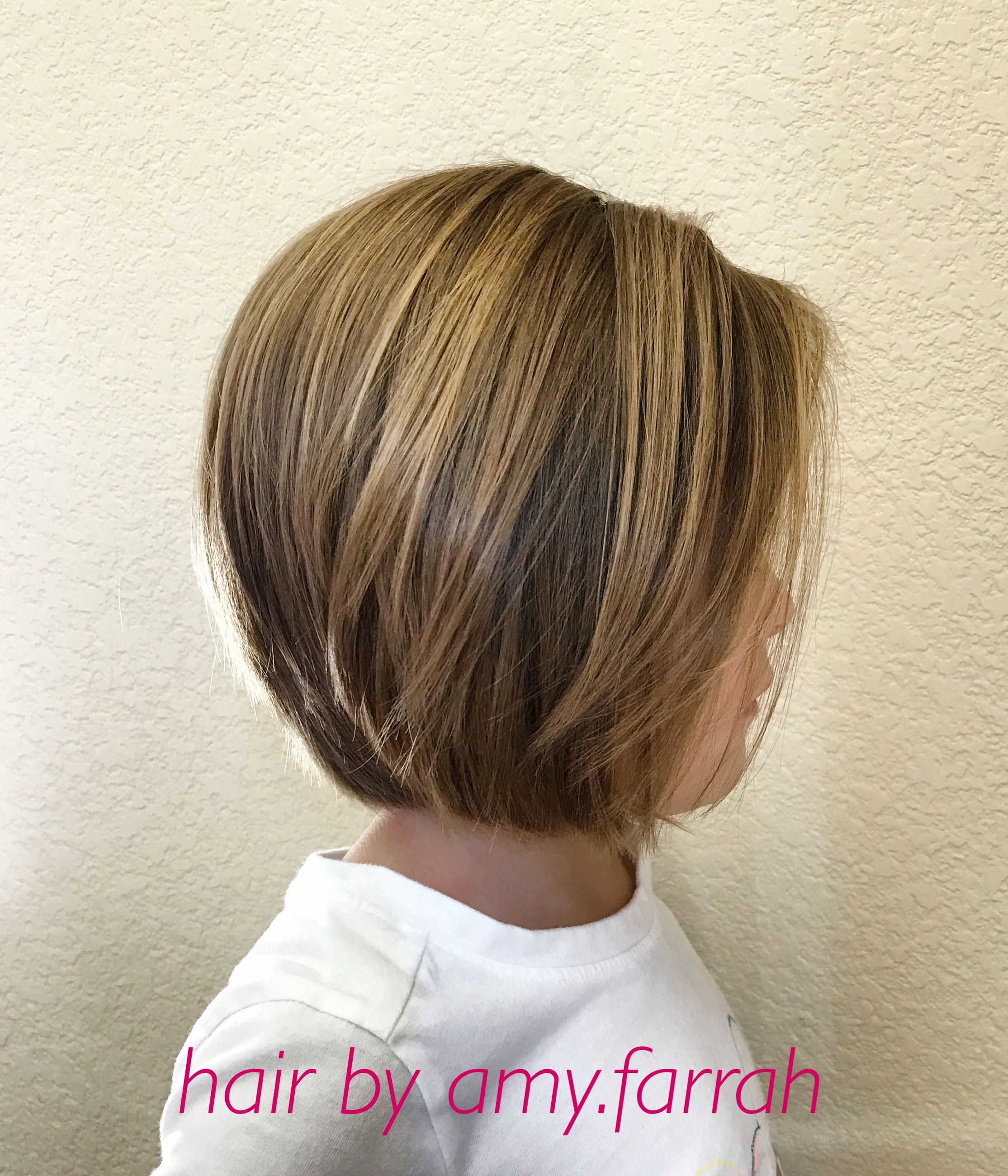 Little Girl Bob Haircut IG amyfarrah Hair Did in