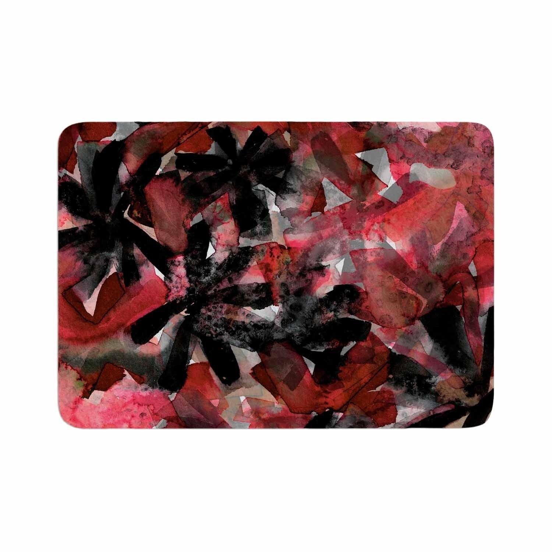 Ebi Emporium Snowy Stars 2 Red Memory Foam Bath Mat Kess