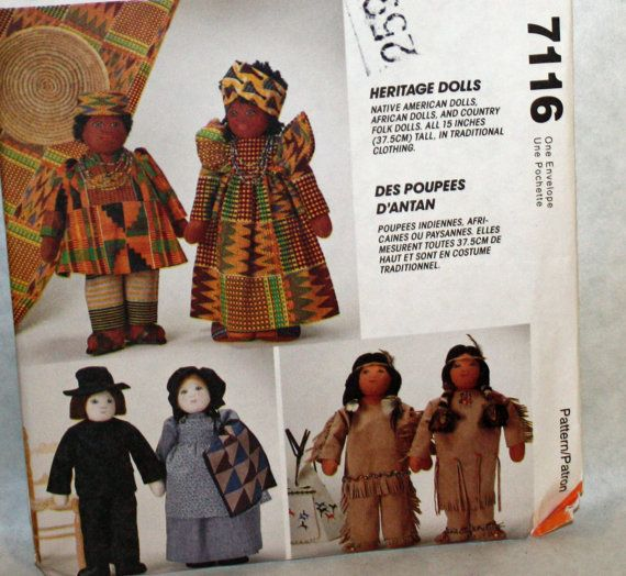 McCall's 7116 Sewing Pattern 15 Heritage Dolls by Old2NewMemories, $8.75