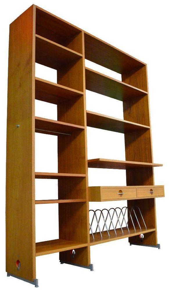 hans wegner for ry mobler wall unit danish mid century modern teak bookcase