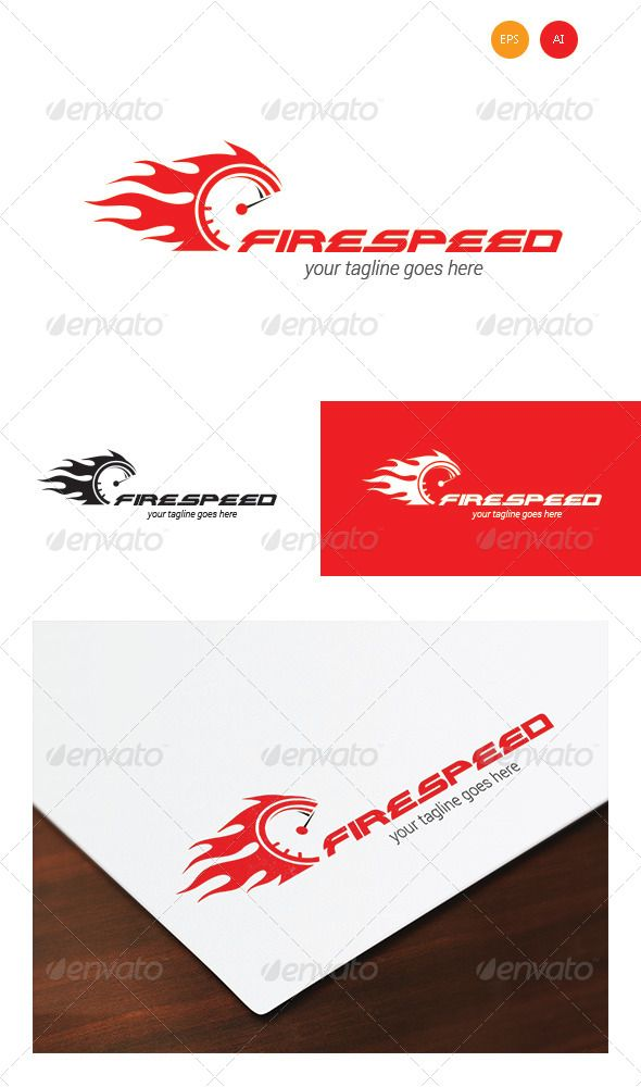 Firespeed Logo for your Business, computer system, performance, speed, or anything where speed need.