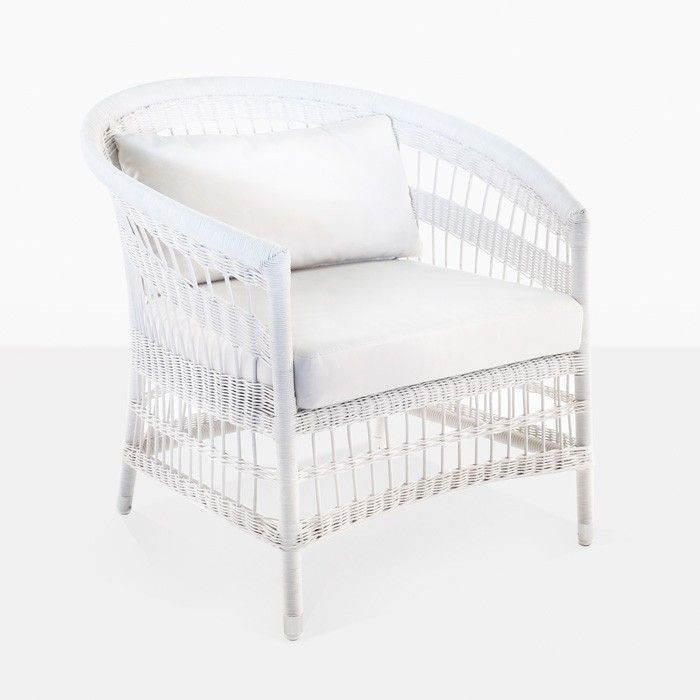 Sahara Wicker Outdoor Relaxing Chair in white - a modern tub-style chair with seat cushions - lightweight u0026 durable.  sc 1 st  Pinterest & Sahara Wicker Outdoor Relaxing Chair in white - a modern tub-style ...