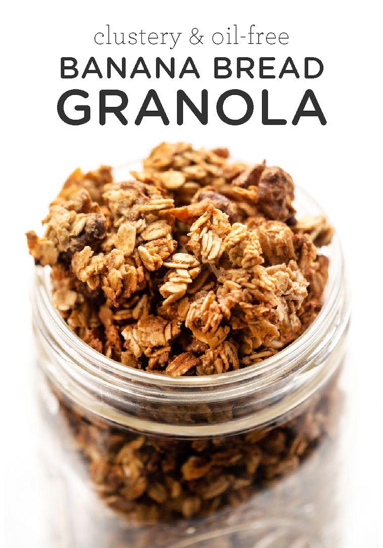 Clustery & Oil-Free Banana Bread Granola - Simply Quinoa