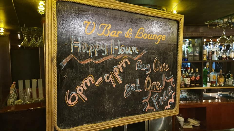 Happy Hour Promotion is still going on at #V-Bar. Buy any Draught Beer,🍷Wine and 🍹Selected Cocktails and Get another one absolutely Free!! Happy Hour Promotion - 6:00 PM to 9:00 PM. For table Booking: 09254443324 #HappyHourPromotion #Unpluggedmusic #DraughtBeer #Wine #Cocktails