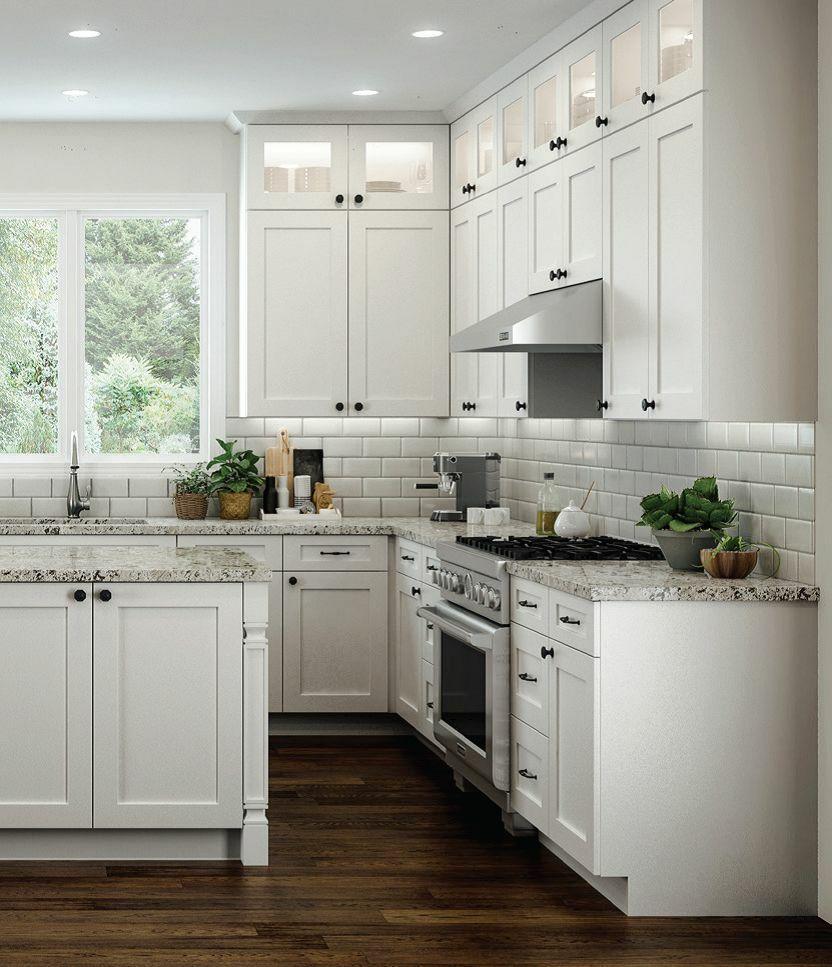 All Wood Rta 10x10 Transitional Shaker Kitchen Cabinets In Elegant White Modern New Kitchen Cabinets Modern Kitchen Kitchen Trends