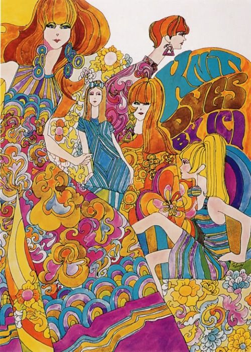 Psychedelic Fashion Advert 1967 Psychedelic Art Art