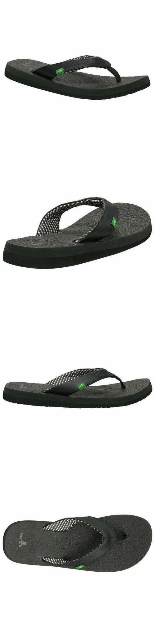 3af042620b5d37 Sandals 62107  Sanuk Ladies Yoga Mat Flip Flops ~ Black ~ Various Sizes ~  Wow ! ! ! -  BUY IT NOW ONLY   19.9 on  eBay  sandals  sanuk  ladies  flops   black ...