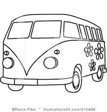 Vw Camper Van Cartoon Sketch Google Search Van Drawing Hippie