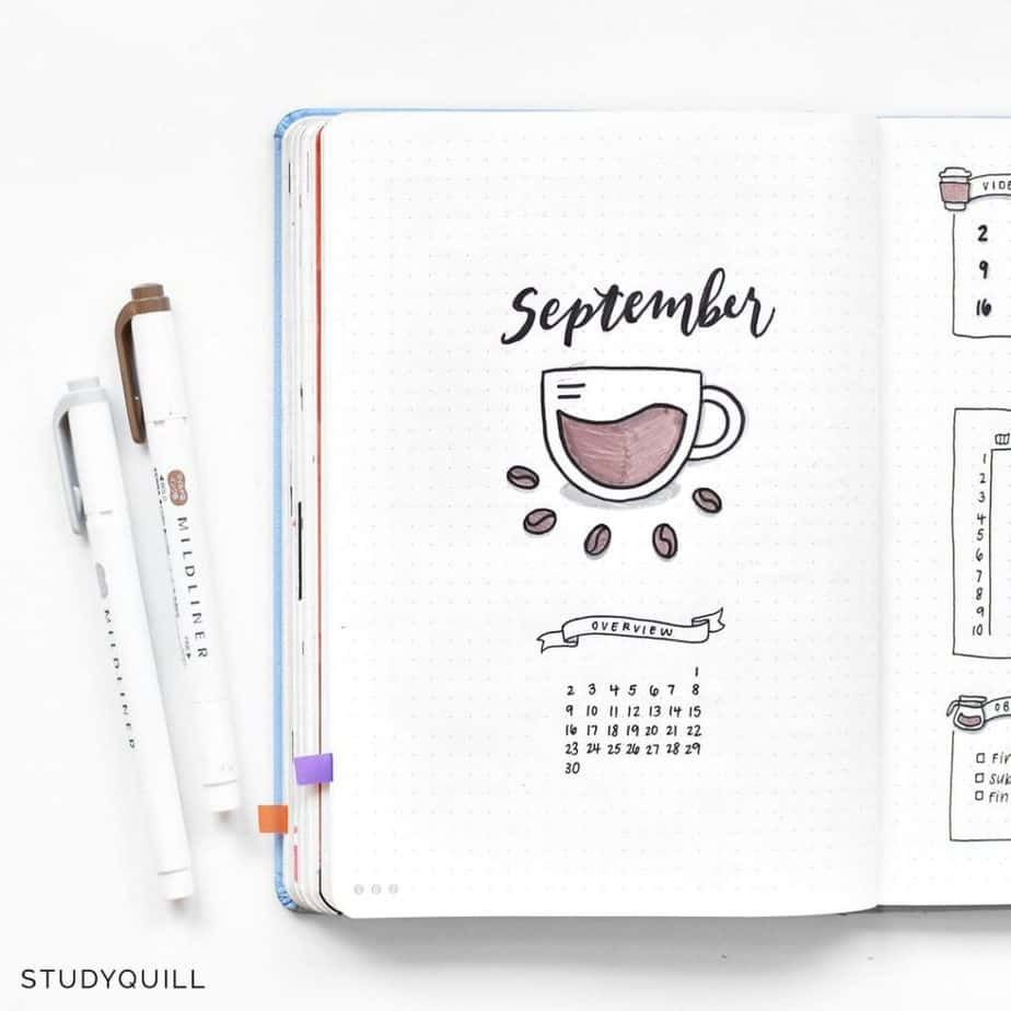 27 Coffee Bullet Journal Theme Inspirations & My November Plan With Me