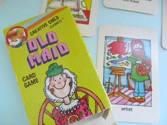 Vintage 1990s Old Maid Card Game Complete Creative Child Etsy Card Games Games For Kids Classic Childrens