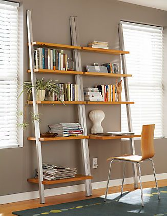 Modern Ladder Desk Bello Black Small Industrial Leaning Writing Desk Contemporary Laptop Desk With Shelves Wall Desks For Home Office Em 2020 Moveis
