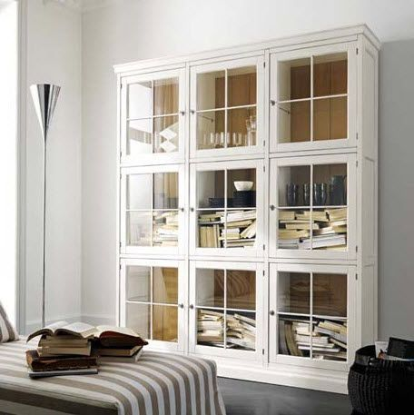 classic style glass front bookcase HAMPSHIRE Flai - Classic Style Glass Front Bookcase HAMPSHIRE Flai Librerie