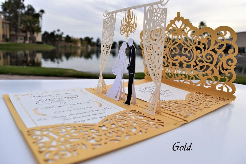 Pop Up Wedding Invitations Sample Chandelier Design Etsy Muslim Wedding Cards Unique Wedding Invitations Wedding Cards