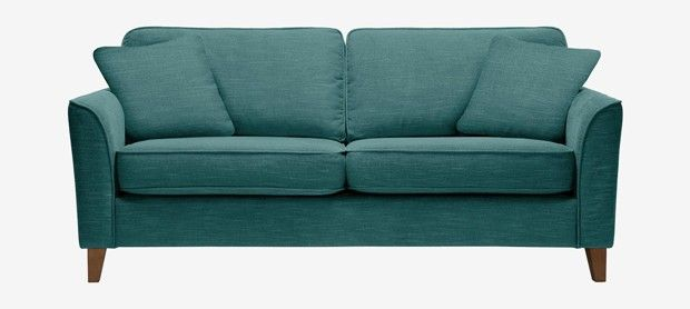 Carrie large sofa with fixed covers in Vogue teal Westbury on Trym