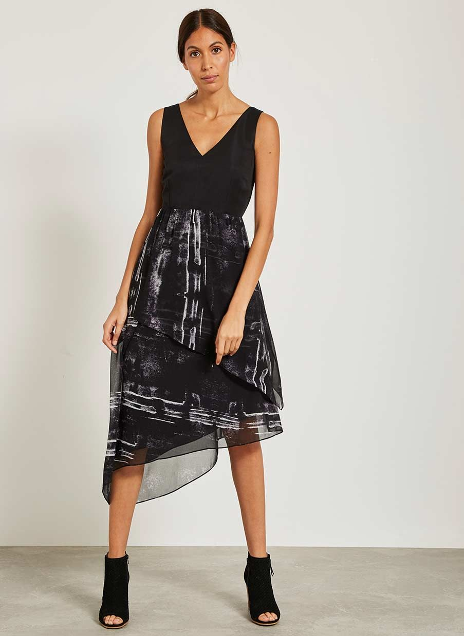 594051892028 Roxy Print Asymmetric Dress in 2019