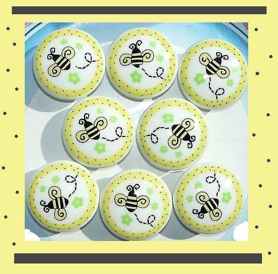 SO CUTE! 8 Bumble Honey Bee Dresser Drawer Knobs by PATRINASPLACE ...