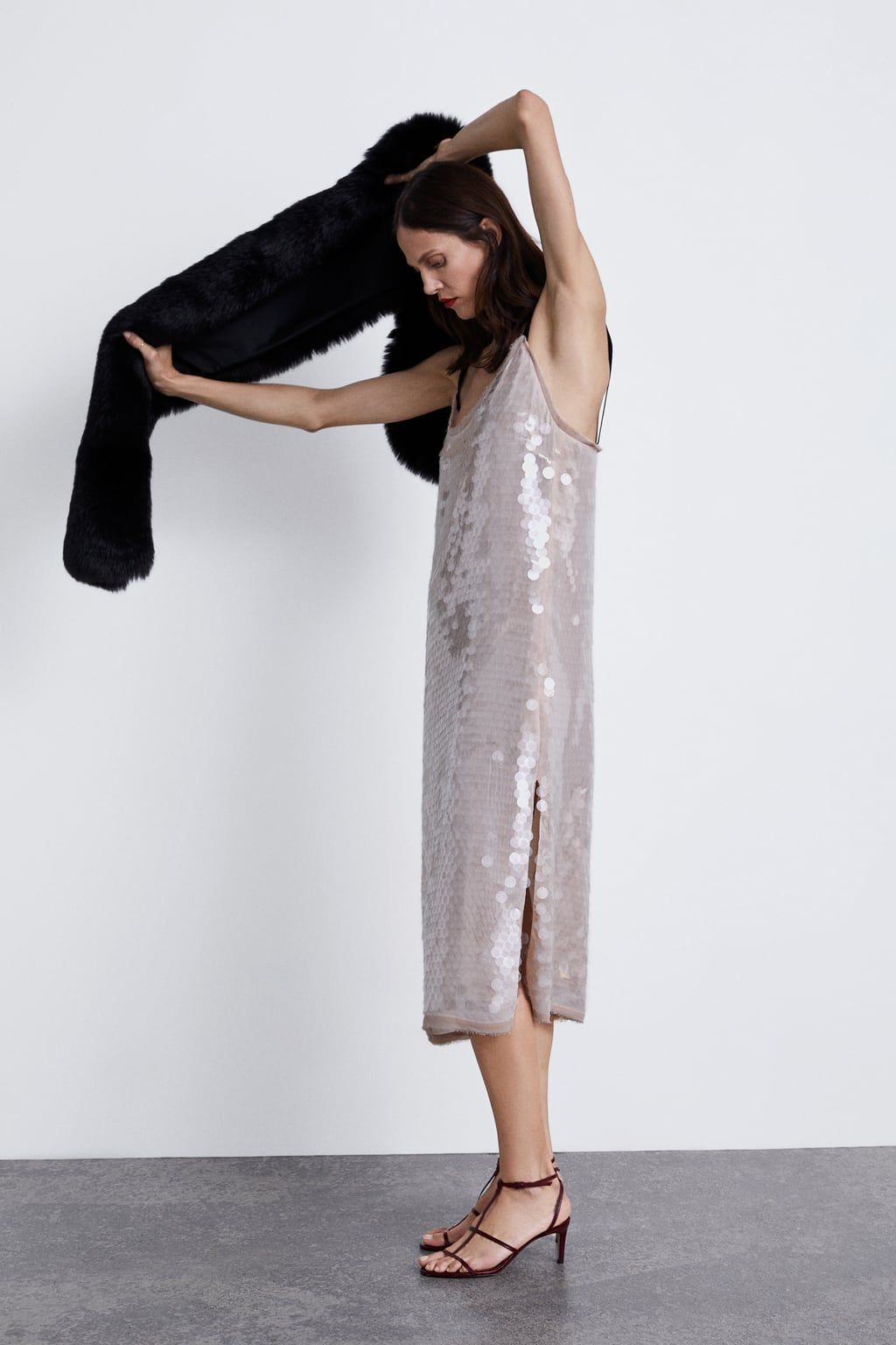 2f9d3b02 Image 3 of SEQUIN DRESS from Zara | xmas 2018 | Dresses, Sequin ...