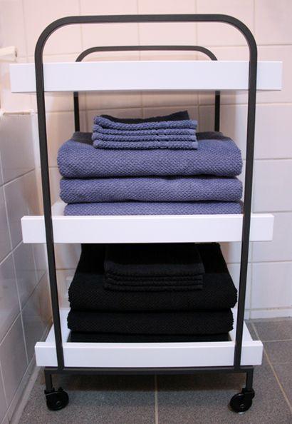 Leuk kastje op wieltjes voor in de badkamer | Badkamer | Pinterest