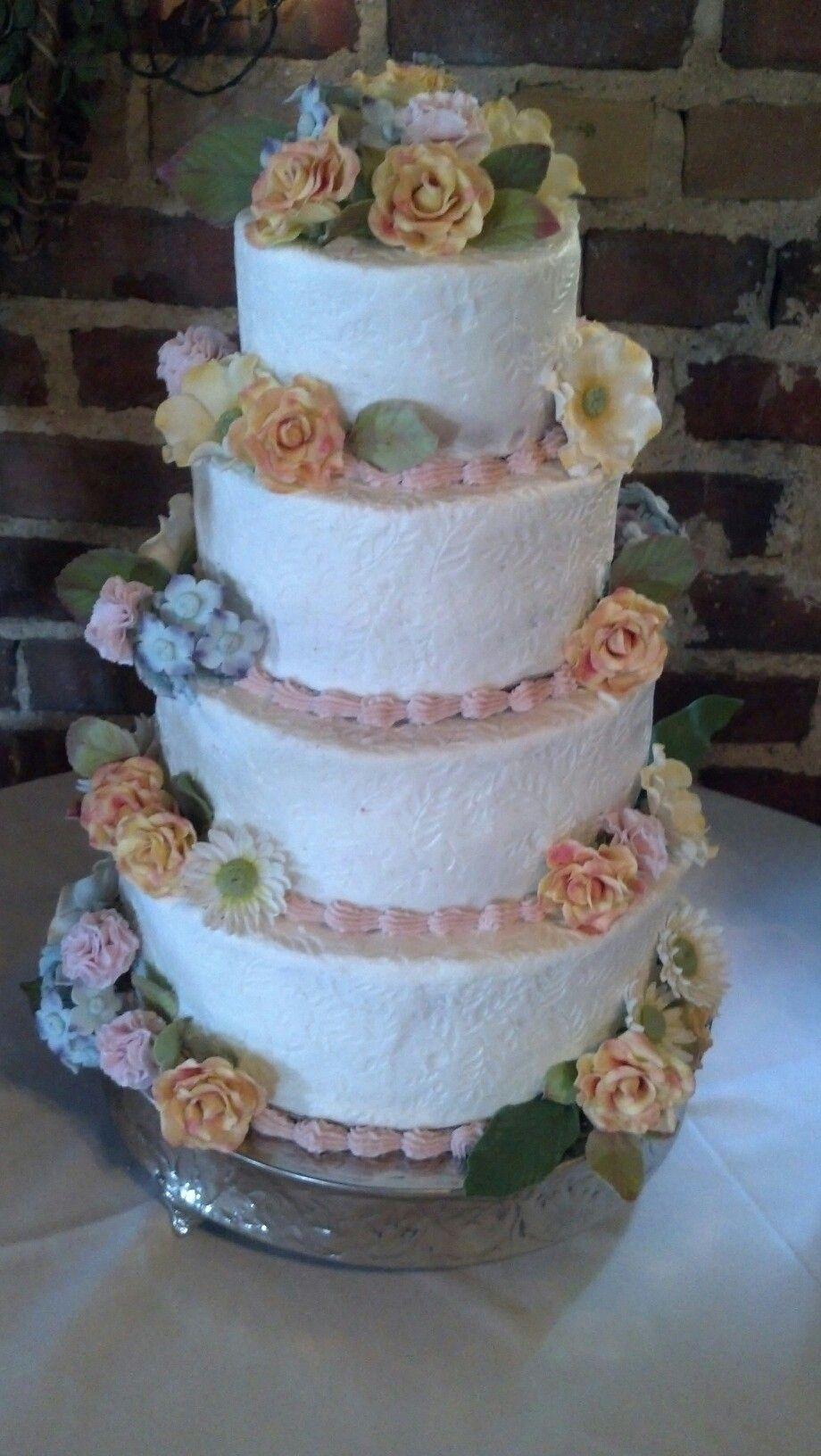 Handmade gumpaste flowers birthday cake Cakes Pinterest