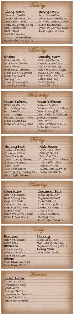 Printable House Cleaning Schedule House cleaning schedules, Free - housework schedule