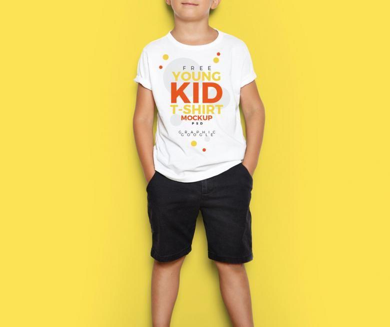 Download Free Young Kid T Shirt Mockup Referencia De Diseno Camisetas Disenos De Unas