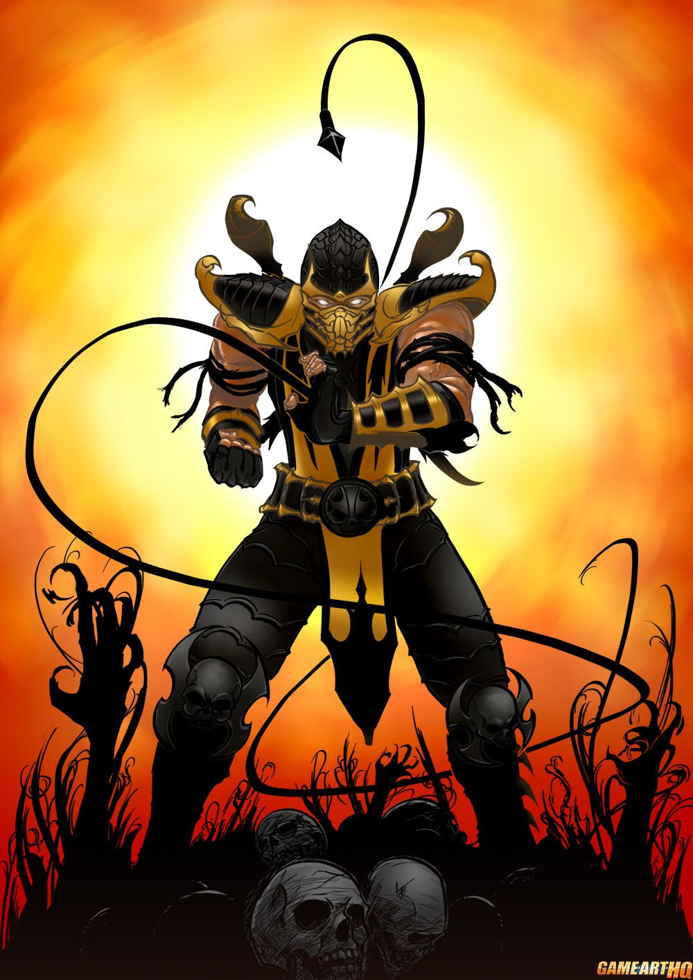 Scorpion From Mortal Kombat In The Ga Hq Video Game Character Db